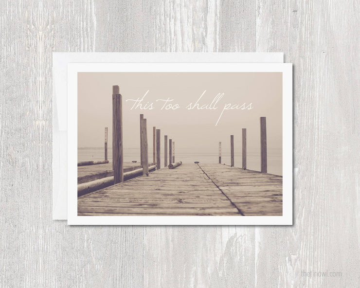 Greeting Card - This Too Shall Pass