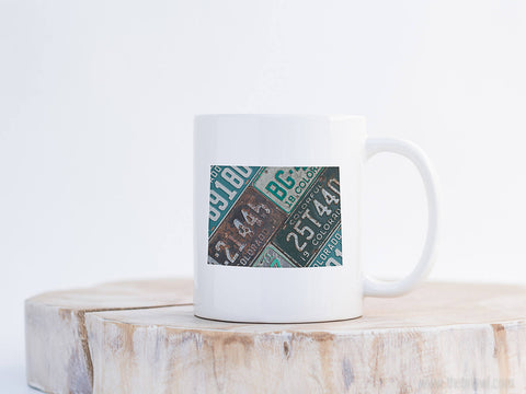 Colorado Vintage License Plate Mug | Coffee Mug 11 oz