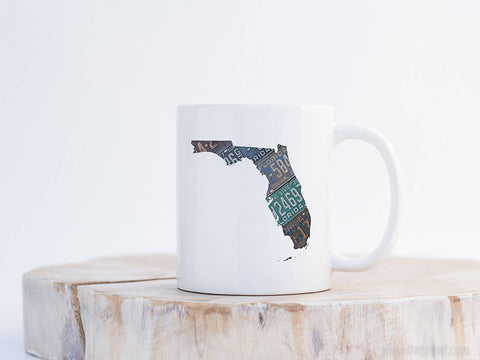 Florida Vintage License Plate Mug | Coffee Mug 11 oz