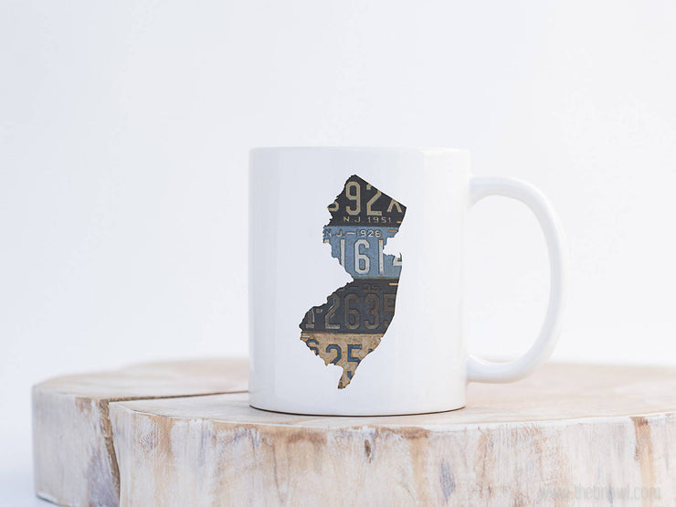 New Jersey Vintage License Plate Mug | Coffee Mug 11 oz