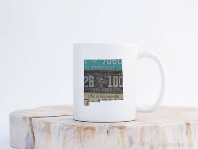 New Mexico Vintage License Plate Mug | Coffee Mug 11 oz