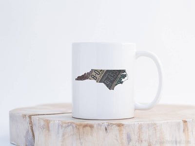 North Carolina Vintage License Plate Mug | Coffee Mug 11 oz