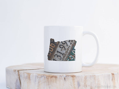 Oregon Vintage License Plate Mug | Coffee Mug 11 oz