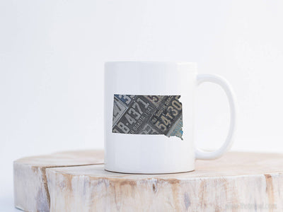 South Dakota Vintage License Plate Mug | Coffee Mug 11 oz