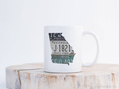 Georgia Vintage License Plate Mug | Coffee Mug 11 oz