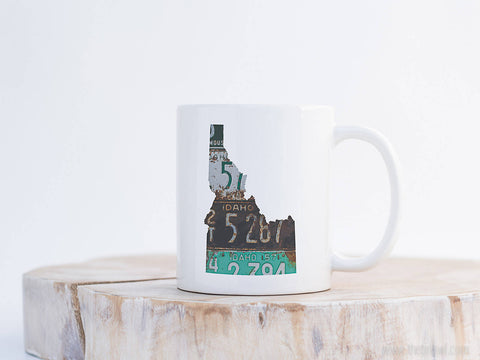 Idaho Vintage License Plate Mug | Coffee Mug 11 oz