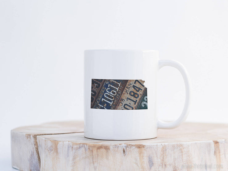 Kansas Vintage License Plate Mug | Coffee Mug 11 oz
