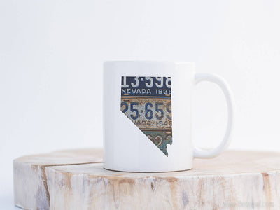 Nevada Vintage License Plate Mug | Coffee Mug 11 oz