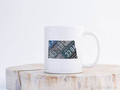North Dakota Vintage License Plate Mug | Coffee Mug 11 oz