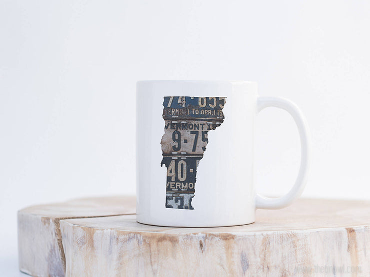 Vermont Vintage License Plate Mug | Coffee Mug 11 oz