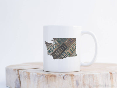 Washington Vintage License Plate Mug | Coffee Mug 11 oz