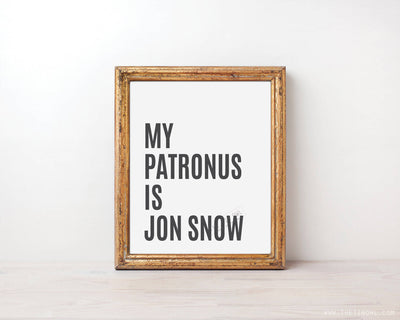 My Patronus Is Jon Snow Minimalist Print
