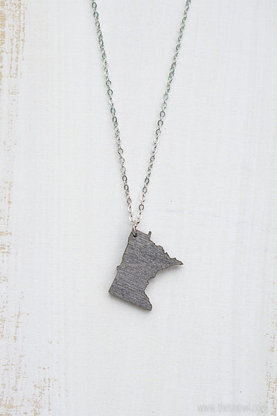 Minnesota Outline Necklace