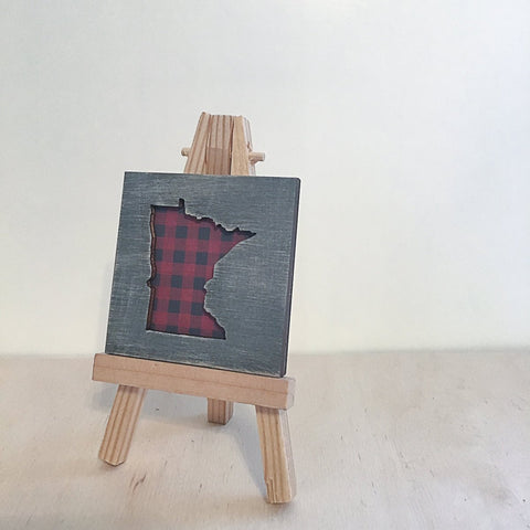 Minnesota Buffalo Plaid Art Magnet