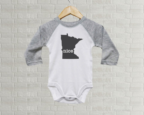 Minnesota Nice Baby One Piece