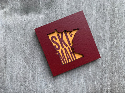 Minnesota Gophers Ski-U-Mah Art Magnet