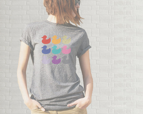 Duck Duck Gray Duck Adult T-Shirt  - Heather Gray