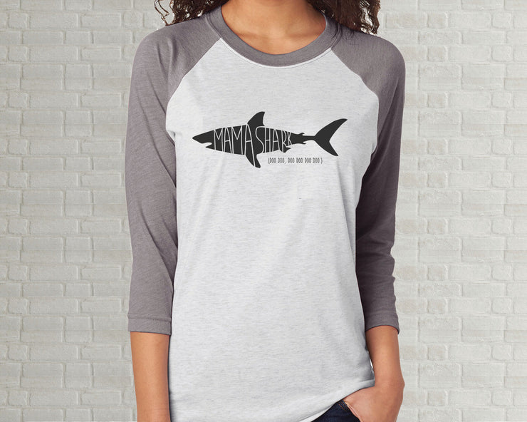Adult Raglan T-Shirt - Baby Shark
