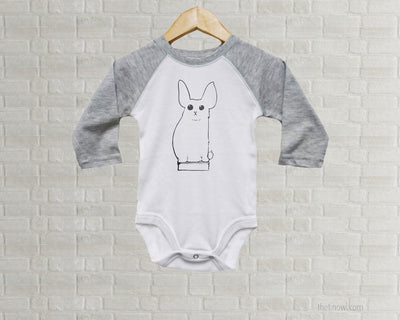 Baby Romper - Vintage Bunny Illustration