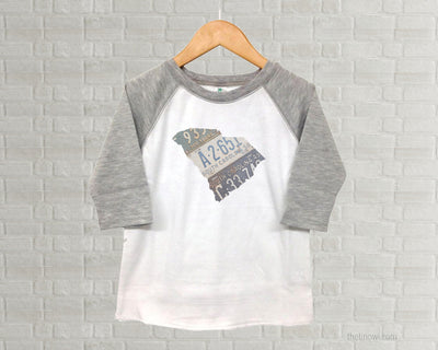 South Carolina Youth Raglan T-Shirt - Vintage License Plate Art