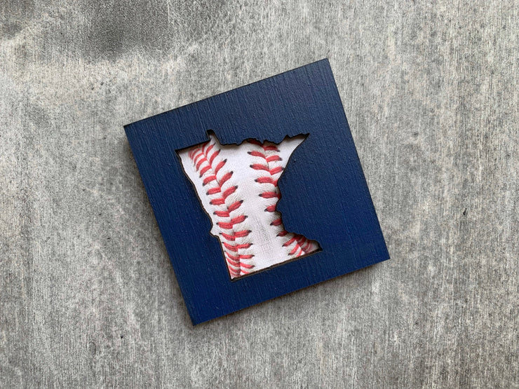 Minnesota Twins Baseball Art Magnet