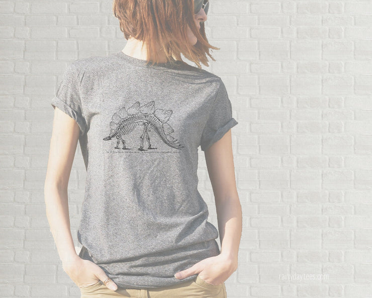 Adult T-Shirt - Vintage Stegosaurus Skeleton