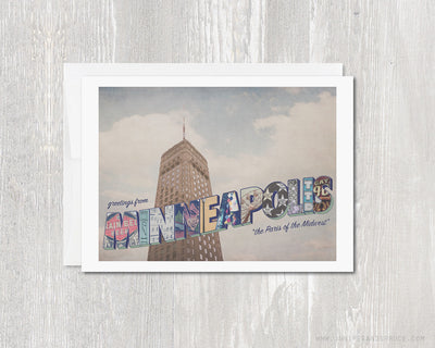Greeting Card - Minneapolis Minnesota Skyline