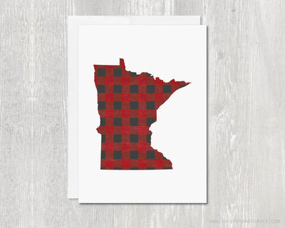Greeting Card - Minnesota Buffalo Plaid