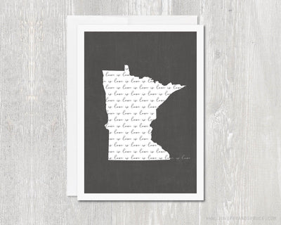 Greeting Card - Love is Love Minnesota Outline