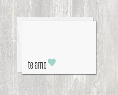 Greeting Card - Te Amo