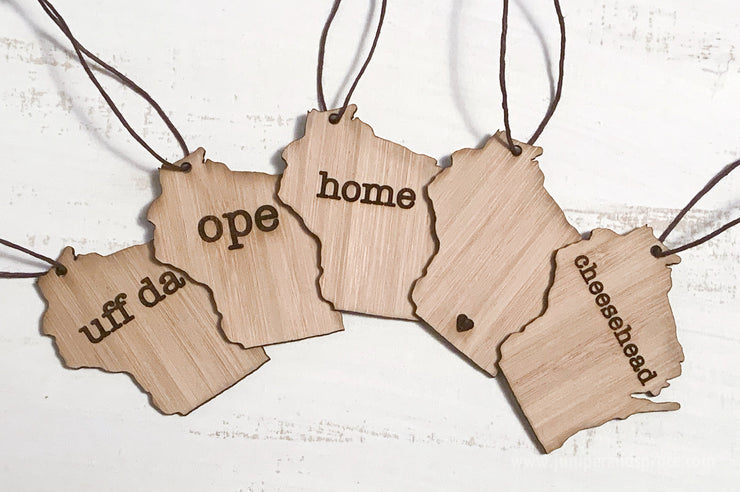 Personalized Wisconsin Outline Ornament