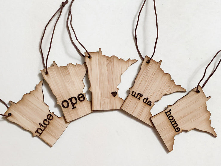 Minnesota Outline Ornament