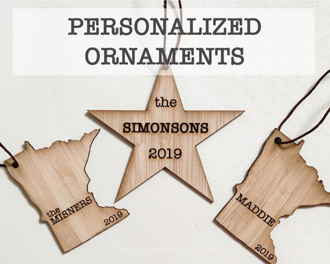 Personalized Minnesota Outline Ornament