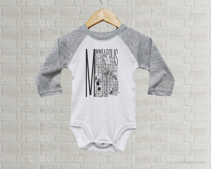 Baby Romper - Minneapolis Map