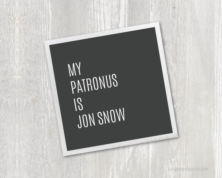 Magnet - My Patronus Is Jon Snow