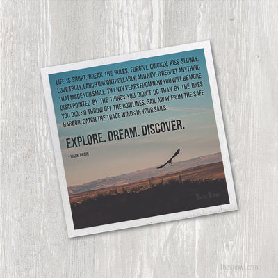 Magnet - Explore Dream Discover Inspirational Quote