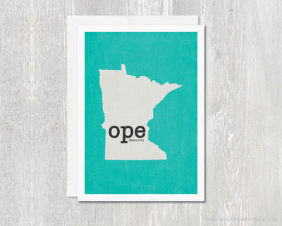 Greeting Card - Minnesota Ope there it is!