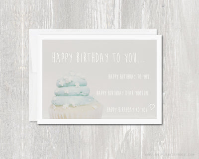 Greeting Card - Happy Birthday To You | Blank Inside