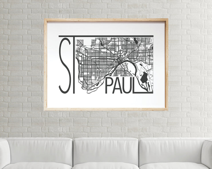St. Paul Map Print | Minnesota
