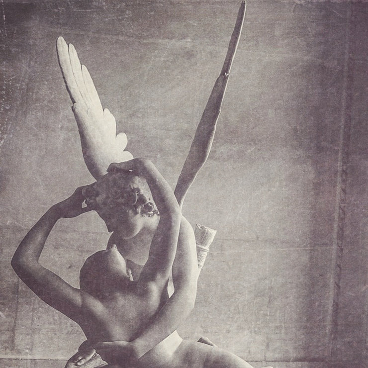 Cupid and Psyche Black & White Photograph