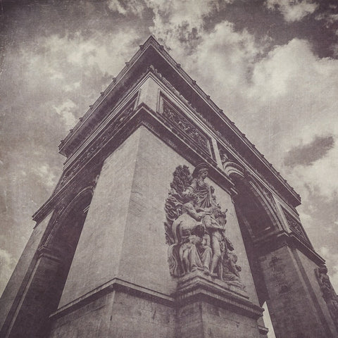 Arc de Triomphe Black & White Photograph