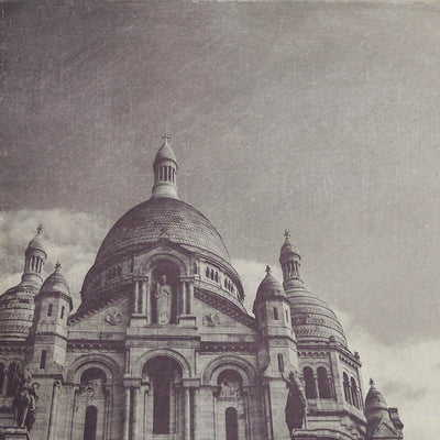 SALE - Sacre Coeur Black & White Photograph - Print