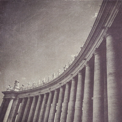 Vatican Columns Black & White Photograph