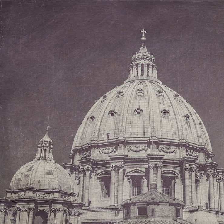 St. Peter's Basilica Dome Black & White Photograph