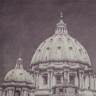 SALE - St. Peter's Basilica Dome Black & White Photograph - Print
