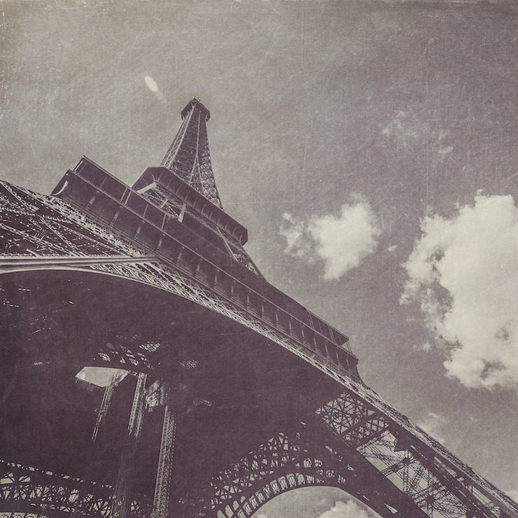 Eiffel Tower Black & White Photograph