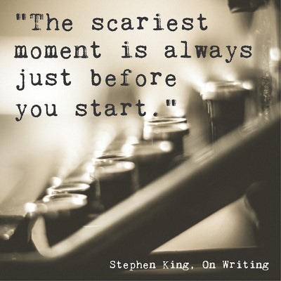 SALE - Vintage Typewriter Scariest Moment Quote - Print