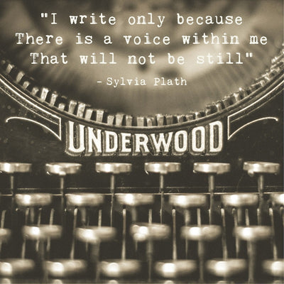 Vintage Typewriter Photograph | Sylvia Plath Quote