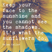Inspirational Sunflower Print