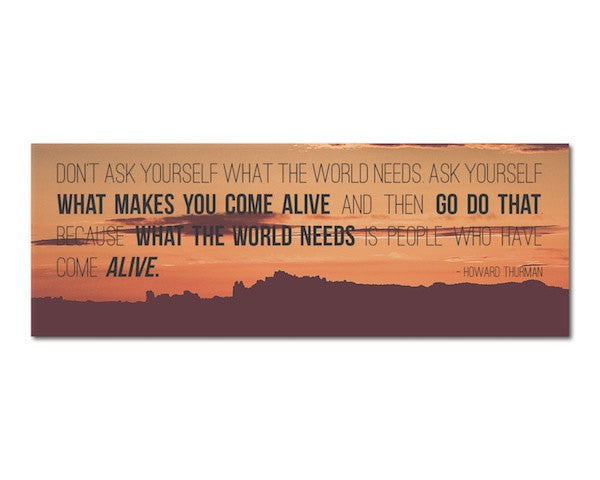 Bookmark - What Makes You Come Alive